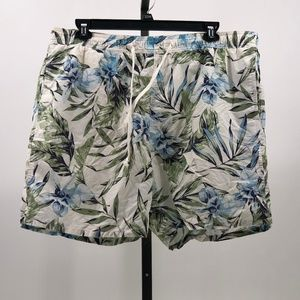 Old Navy mens floral print swim trunks sz XXL